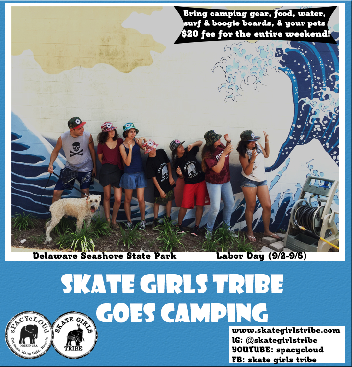 Skate Girls Tribe Goes Camping