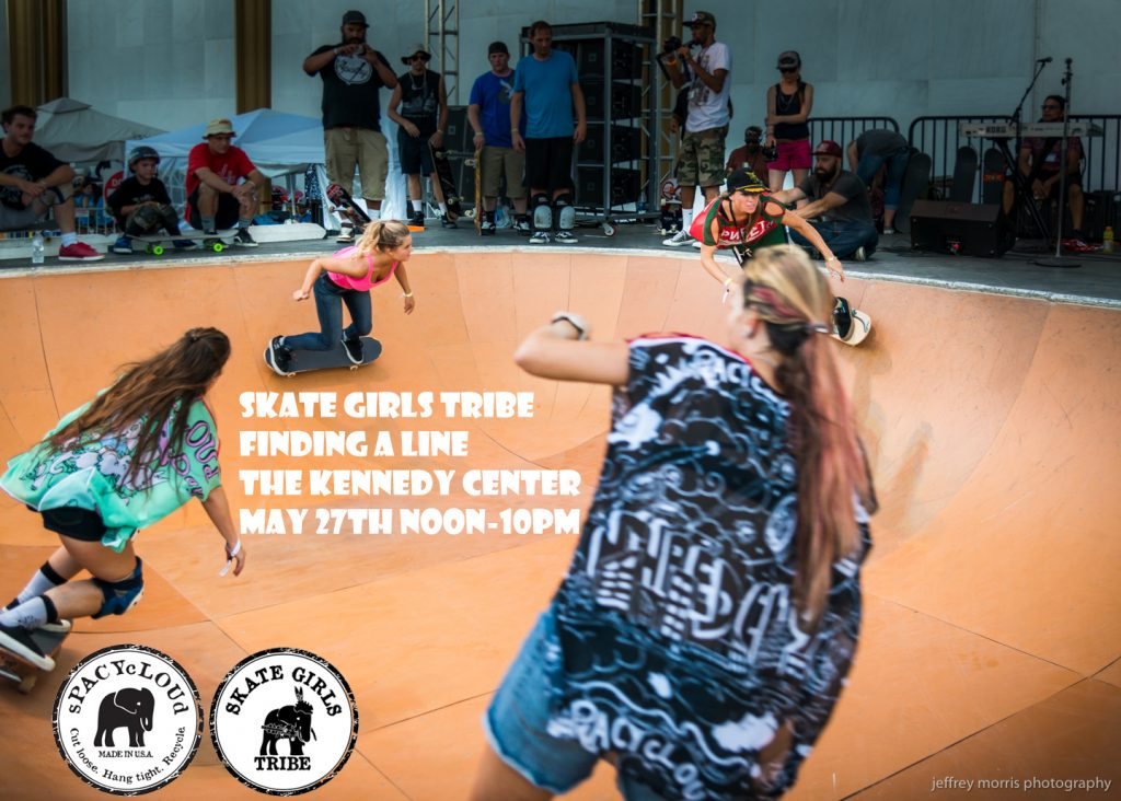 Hosted by sPACYcLOUd and Skate Girls Tribe at The Kennedy Center