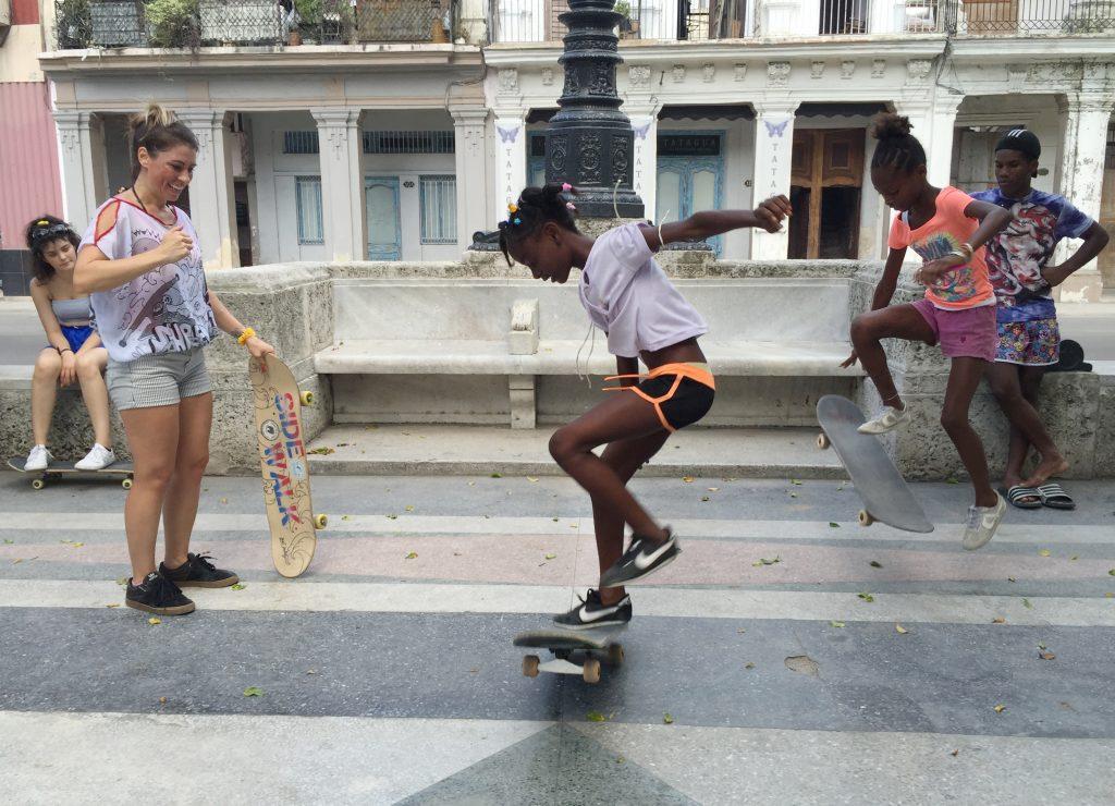Skateboarding in Cuba